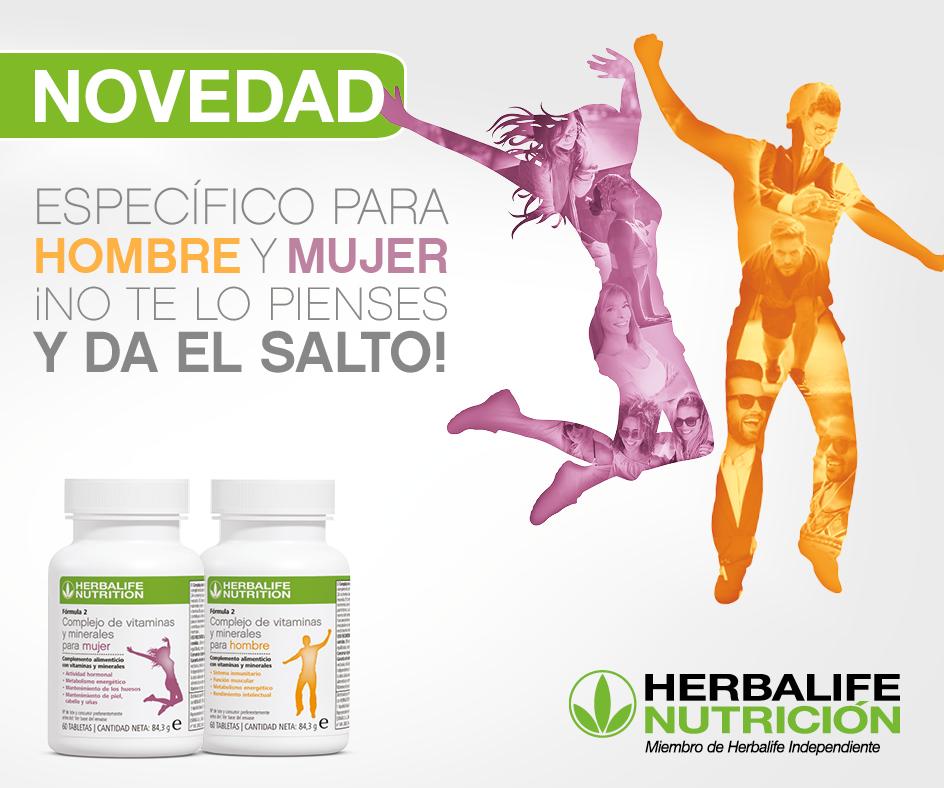 Complejos vitamínicos hombre y mujer de Herbalife