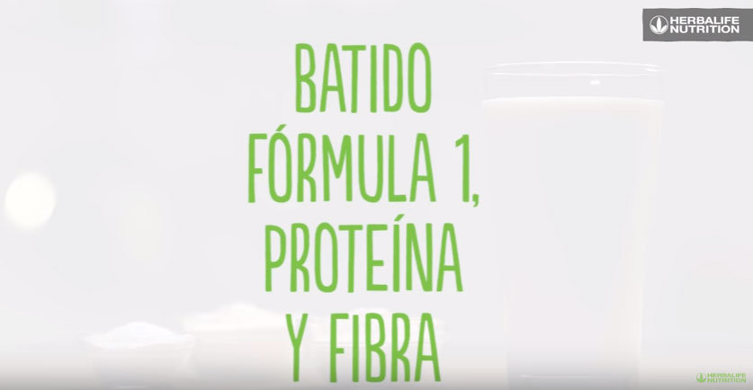 Batido fórmula 1, proteína y fibra