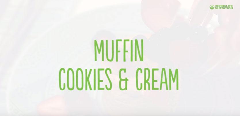 Batido muffing cookies & cream