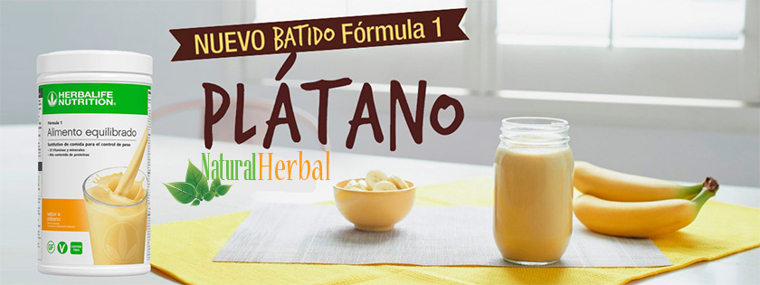 Batido Herbalife Fórmula 1 sabor plátano