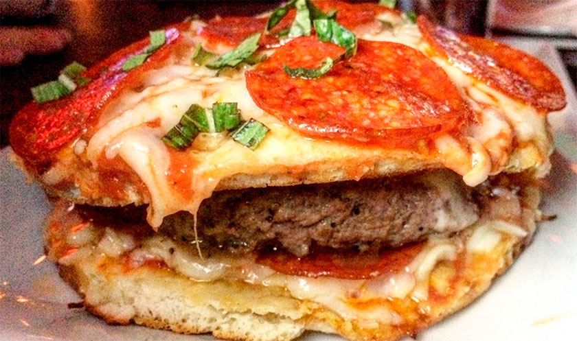 Pizza o hamburguesa