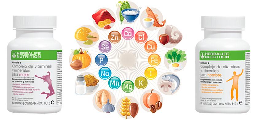 Complejos vitamínicos Herbalife